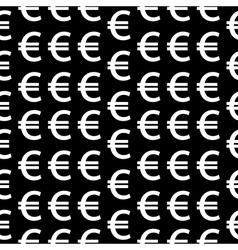 Euro symbol seamless pattern vector