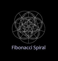 fibonacci spiral- the sacred geometry vector image