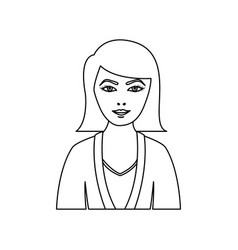 Figure people formal woman icon vector
