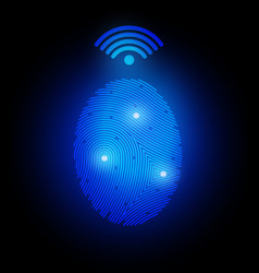 finger print with signal vector image