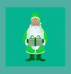 Flat shading style icon santa claus gifts vector