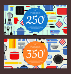 flat style kitchen utensils discount vector image