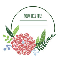 floral frame with place for text vector image