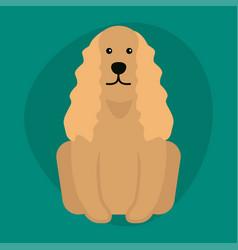 Funny cartoon dog character bread in vector