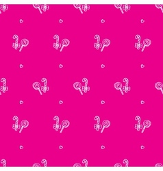 hand drawn lollipop seamless pattern vector image