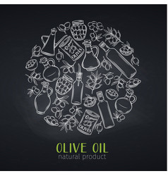 hand drawn sketch olives vector image