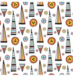 handmade seamless pattern abstract repeat vector image