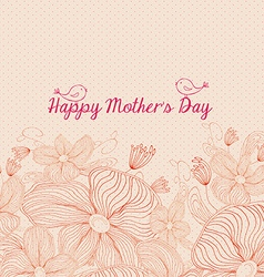 Happy mothers day bright spring with birds and vector
