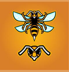 Hornet mascot logo vector