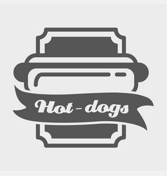 Hotdog badge label logo or icons design vector