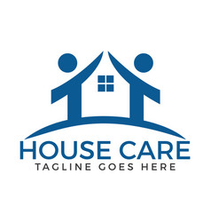 house care logo vector image