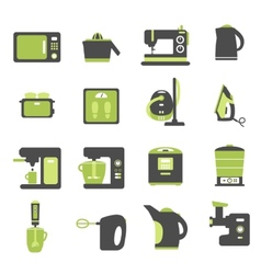 Icons with kitchen utensils vector
