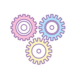 industry gears to process engineering vector image