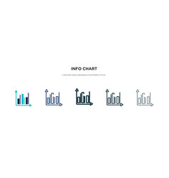 info chart icon in different style two colored vector image