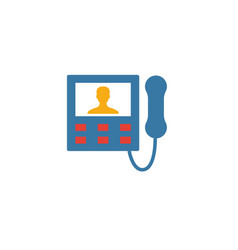 Intercom icon simple flat element from household vector