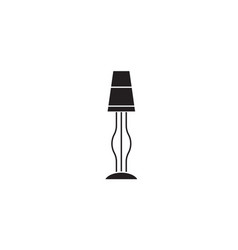 lamp stand black concept icon lamp stand vector image