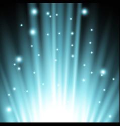 light flare from below aqua color vector image