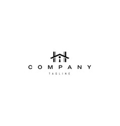 logo on which an abstract image a house vector image