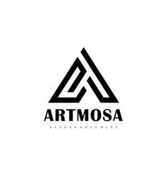 Luxurious a letter logo vector