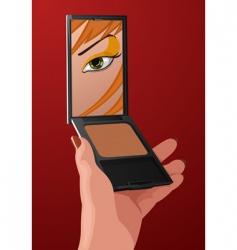 makeup cartoon vector image