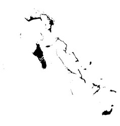 map bahamas isolated black vector image