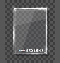 Modern transparent glass plates set vector