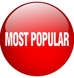 Most popular red round gel isolated push button vector