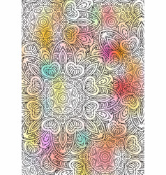 multicolored book sheet book cover mandala vector image