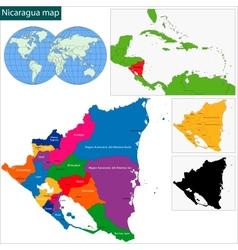 Nicaragua map vector