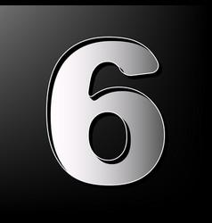 number 6 sign design template element vector image