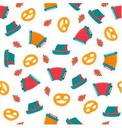 oktoberfest - bavarian festival seamless pattern vector image