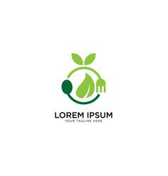 Organic food logo template vector