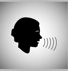 people talk or sing silhouette of a person face vector image