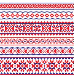 Sami seamless pattern lapland folk art vector