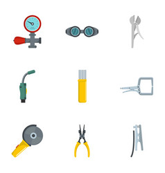 Sanitary engineering icons set cartoon style vector