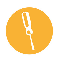 screwdriver tool isolated icon vector image