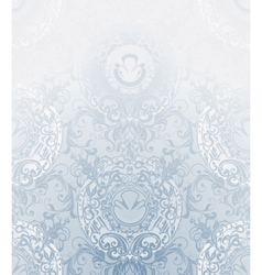 Seamless Wallpaper Pattern pale blue vector image vector image