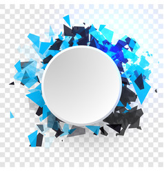 Shatter design element empty space for vector