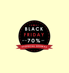 simple black friday banner vector image
