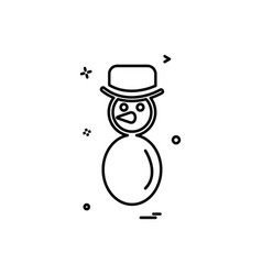 snowman icon design vector image