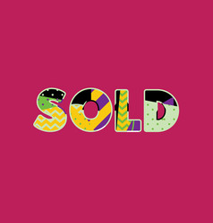 sold concept word art vector image