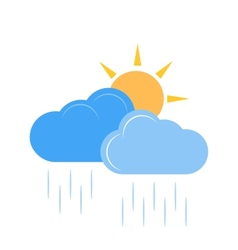 Sunny and Rainy vector image