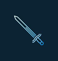 Sword concept colorful linear icon on dark vector