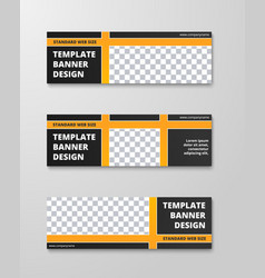 templates of horizontal banners with a place for vector image
