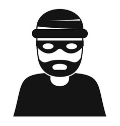 thief icon simple style vector image