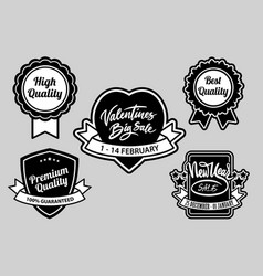 valentines and event sale label badges vector image