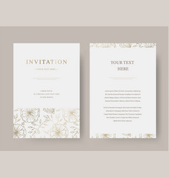 vintage floral luxury invitation card vector image