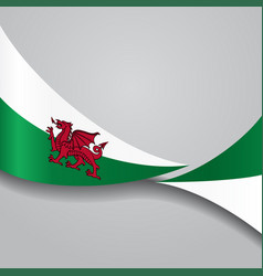 Welsh wavy flag vector