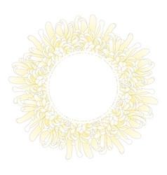 white chrysanthemum flower banner wreath vector image