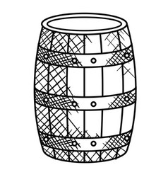 wine barrel isolated icon vector image